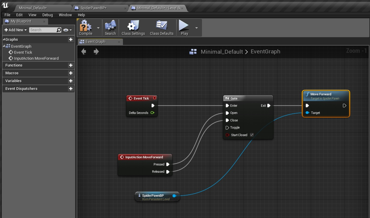 UE4 C++ How to make a Spider in UE4 Part 4 | Mike-Purvis com
